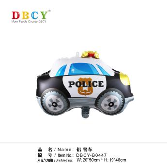 В0447 Шар фольга Police в уп.50*48